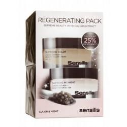 Sensilis pack supreme dia spf15 color 50 ml + supreme midnight 50ml