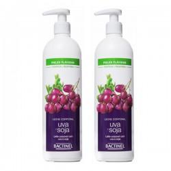 Bactinel leche corporal uva y soja 400 ml 2 unidades