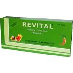 Revital ginseng + jalea real + vitamina c 20 ampollas bebibles