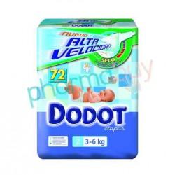 PAÑAL DODOT ETAPAS T. 2   DE 3 A 6 KG. 86 UNID.