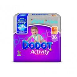 PAÑAL DODOT ACTIVITY PLUS T. 4  DE 9 A 15 KG. 36  UNID