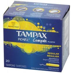TAMPAX COMPAK TAMPON REGULAR 20 UNIDADES
