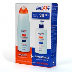 LETI AT4 PACK GEL BAÑO DERMOGRASO 750ML. + LECHE CORPORAL