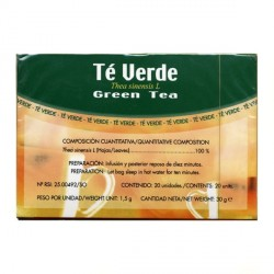 Soria Natural té verde infusión 20 unidades