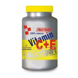 NUTRISPORT VITAMINA C+E 60 COMPRIMIDOS MASTICABLES