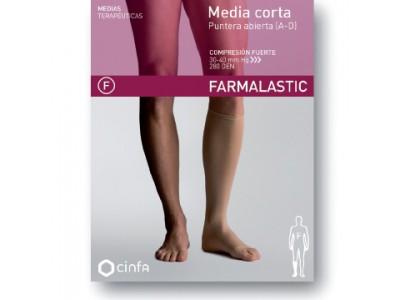 Farmalastic Media Corta Puntera Abierta Compresión Fuerte Talla Extra Grande 1ud