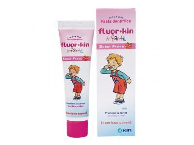 Fluor Kin Pasta Dental Infantil Fresa 50ml