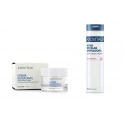 Axovital Crema Hidratante Moisturising 50ml + Agua Micelar Limpiadora 200ml