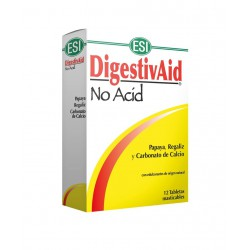 Digestivaid No Acid 12 Tabletas Masticables