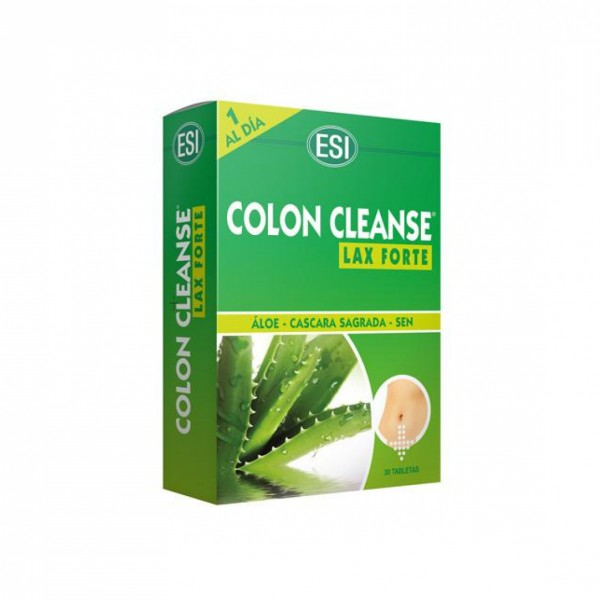 Colon Cleanse Lax Forte 30 Tabletas con Aloe - Pharmabuy
