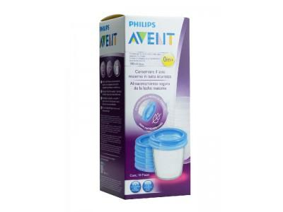 Philips Avent Recipiente Antiderrame 180ml 5 uds.