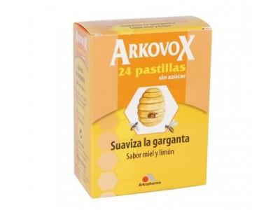 Arkovox Pastilla Sin Azúcar Miel y Limón 24 Pastillas