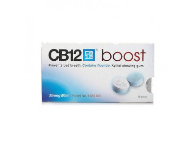 Cb12 Boost Strong Mint 10 Chicles Sin Azúcar