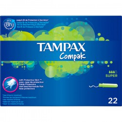 Tampax Compak Tampón Super 22 uds.