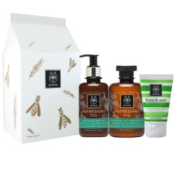Apivita Set Refreshing Fig Gel de Baño 300ml + Leche Corporal 300ml + Crema de Manos 50ml