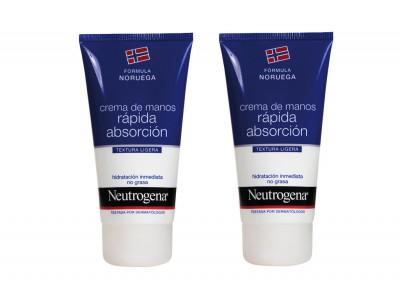 Neutrogena Crema de Manos Rapida Absorción 75ml 2 uds.