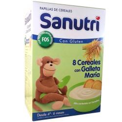 Sanutri 8 Cereales Galleta Maria Bifidus 600g
