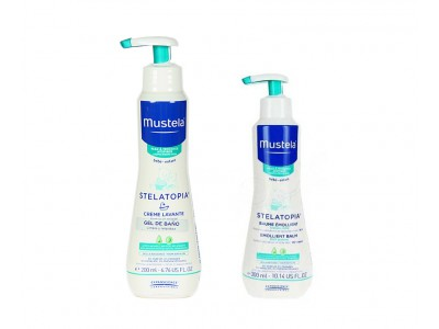 Mustela Stelatopia Gel Baño 500ml + Bálsamo Emoliente 300ml