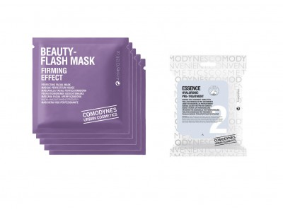 Comodynes 5 Mascarillas Beauty Flash + 1 Mascarilla Essence Hyaluronic