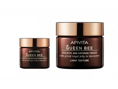 Apivita Queen Bee Crema de Día Ligera 50ml + Crema de Noche 15ml