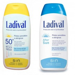 Ladival Solar Piel Sensible o Alérgica SPF50 200ml + After Sun 200ml