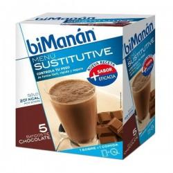 Bimanan Sustitutive Batido Chocolate 5 Sobres x 55g.