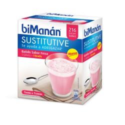Bimanan Sustitutive Batido Fresa 5 Sobres x 55g.