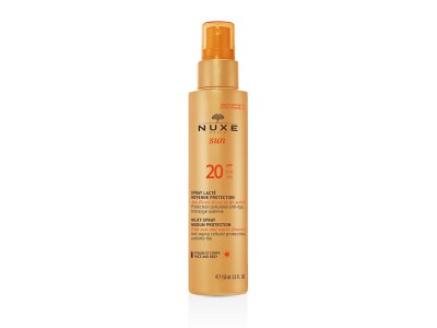 Nuxe Sun Leche Corporal y Facial En Spray Protección Media SPF20 150ml