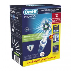 Oral-B Cepillo Electrico Pack Pro 600 Cross Action