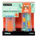 Suavinex 2Biberones Boca Ancha Tetina Anatómica 2 Tamaños