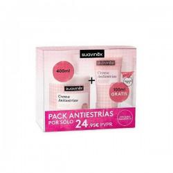 Suavinex Pack Antiestrias (Crema 400ml + Tubo 100ml)
