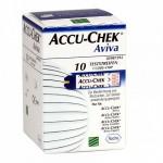 Accu-Chek Aviva 10 tiras reactivas