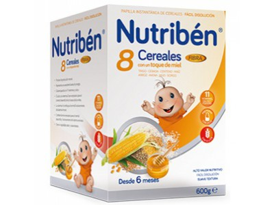 Nutriben 8 Cereales Miel Fibra 600g