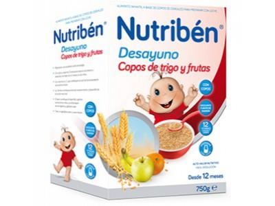 Nutriben Desayuno Copos de Trigo y Frutas 750g