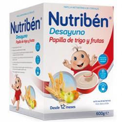 Nutriben Desayuno Papilla de Trigo y Frutas 600g