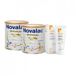 Novalac Premium 2 Duplo 800 g 2 uds + Regalo Repavar crema pañal 75ml