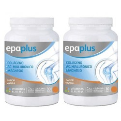 Epaplus pack duplo colágeno+ácido hialurónico+magnesio vainilla 325g