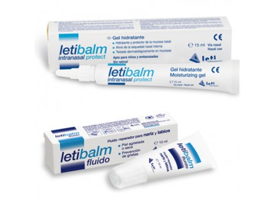 Letibalm Pack Intranasal Protect Gel Hidratante 15ml + Fluido Reparador 10ml