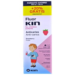 Kin Fluor Infantil Anticaries Fresa 600ml