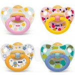Nuk Happy Kids Chupete Látex 0-6 meses 2 uds