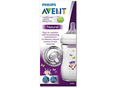 Avent Biberón Natural +1M Silicona 260ML