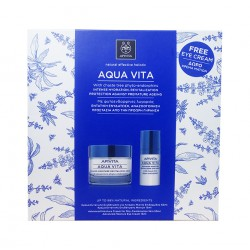 Apivita Pack Agua Vita Crema P.Normal-Seca 50ml+Serum 30ml