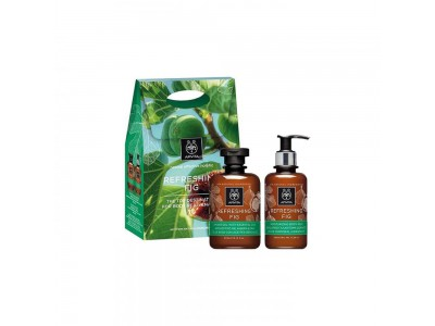 Apivita Pack Refreshing Fig Gel Baño 300ml+Leche Corporal 200ml