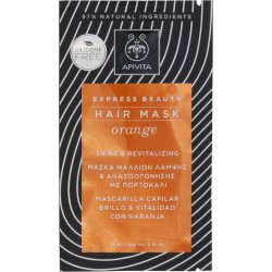 Apivita Express Beauty Mascarilla Capilar Naranja 20ml