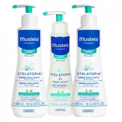 Mustela Pack Stelatopia 2 uds. Crema Emoliente 300ml+ Crema Lavante 200ml