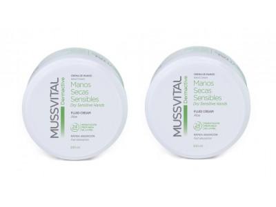 Mussvital Pack Dermactive Duplo Crema Manos Seca Sensible 200 +200 ml