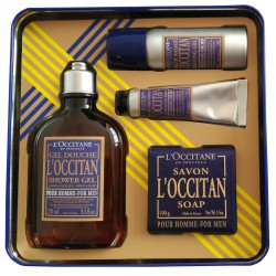 L'Occitane Cofre Hombre Gel Ducha+Gel Afeitado+After Shave+Jabón