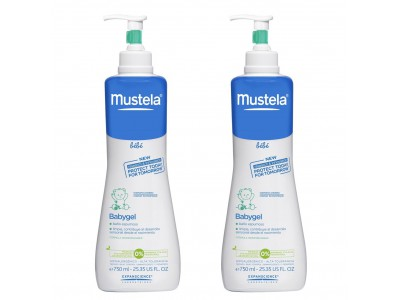 Mustela Pack Doble 2uds Babygel 750ml