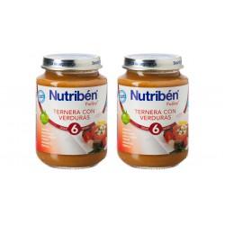 Nutriben Pack Potitos Ternera Con Verduras 2x250gr