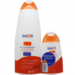 Leti At4 Pack Gel Baño DermoGraso 750ml + Gel de baño dermograso 200ml